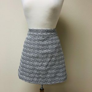 [Express] Stiff Tweed A-Line Black and White Skirt